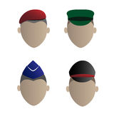 These four soldiers icon Stock Photography