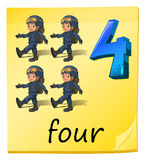 Four soldiers Stock Photography