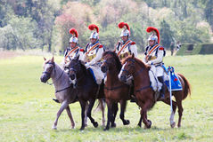 Four soldiers riding horses. Stock Photography