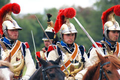 Four soldiers riding horses. Royalty Free Stock Photos