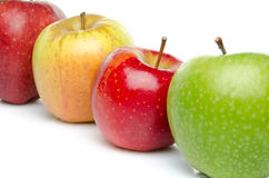 Four sorts of apple Royalty Free Stock Image