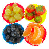 Four sorts of Fresh fruit Royalty Free Stock Photography