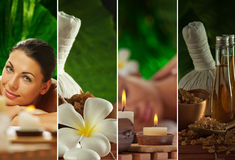 Four. Spa theme  photo collage composed of different images Stock Image