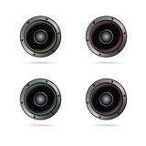 Four speakers with different colors vector Royalty Free Stock Photography