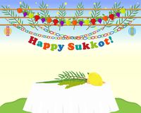 Jewish holiday of Sukkot, four species Royalty Free Stock Photo