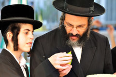 Four Species Market for Jewish Holiday of Sukkot Stock Photo