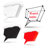 Four speech bubbles with place for text. Set of 3d speech bubbles for your message royalty free illustration