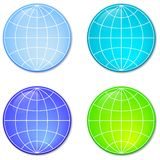 Four Spheres Stock Photo