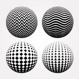 Four spheres Stock Images