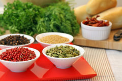 Four spices Stock Images