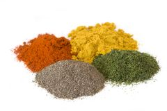 Four spices Stock Image