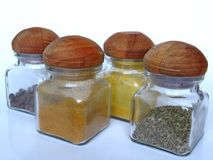 Four spices Royalty Free Stock Image