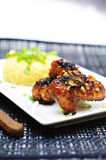 Four spices marinated chicken wings Stock Photography