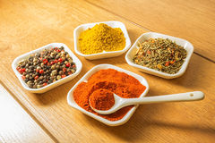 Four spices Stock Photos