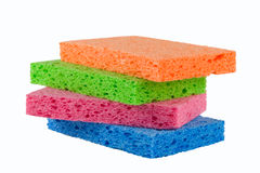 Four sponges alpha Stock Photos