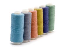 Four spool of thread Royalty Free Stock Photo