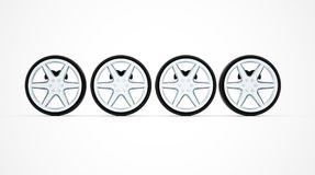 Four sport car wheel  Stock Image