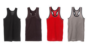 Four sport tank tops Royalty Free Stock Photography