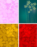 Four spring backgrounds  Royalty Free Stock Photo