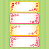 Four Spring flower banners Royalty Free Stock Photos