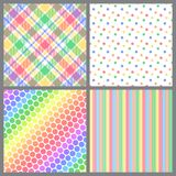 Four Spring Patterns. A set of four background patterns for spring Stock Photography