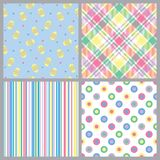 Four Spring Patterns Royalty Free Stock Images