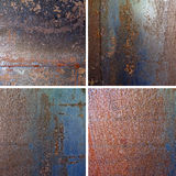 Four square background rusty Royalty Free Stock Photo
