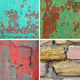 Four square background rusty Royalty Free Stock Photos
