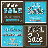 Four Square banners with sale offer, vector Royalty Free Stock Photography