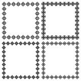 Four square ethnic geometric frames for your design, text or photo Stock Photo