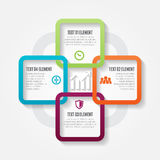 Four Square Options. Vector illustration of four square options infographic design elements Royalty Free Stock Photography