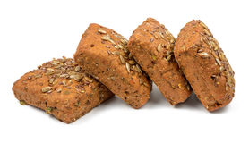 Four square rye breads Stock Photography