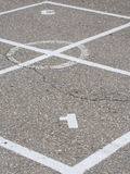 Four squares game. In school playground royalty free stock images