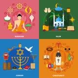 Religions Icon Set Royalty Free Stock Photo