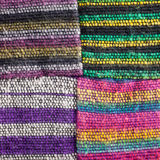 Four squares of textured striped fabric Stock Images