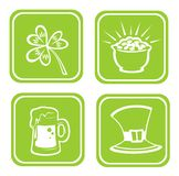 Four st.Patrick's Day symbols Royalty Free Stock Photos