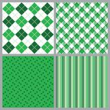 Four St. Patricks Day Patterns Stock Images