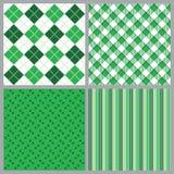 Four St. Patricks Day Patterns vector illustration