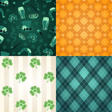 Four st.Patricks Days patterns Stock Images