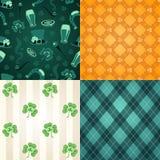 Four st.Patricks Days patterns Stock Images