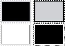 Four stamps for filling Stock Photo