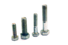 Four standing bolts Royalty Free Stock Image