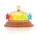Four star hotel's reception bell Stock Photography