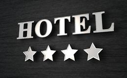 Four star hotel sign Stock Photo