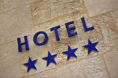 Four stars hotel Stock Image