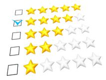 Four stars rating Royalty Free Stock Images