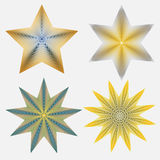 Four Stars. Four vector stars created in Adobe Illustrator Stock Photography