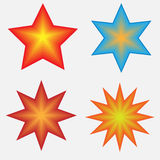 Four Stars. Four vector stars created in Illustrator Royalty Free Stock Photo