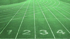 Four Starting Lanes for Running Track Meet Races Stock Photography