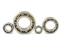 Four steel ball bearings Royalty Free Stock Image